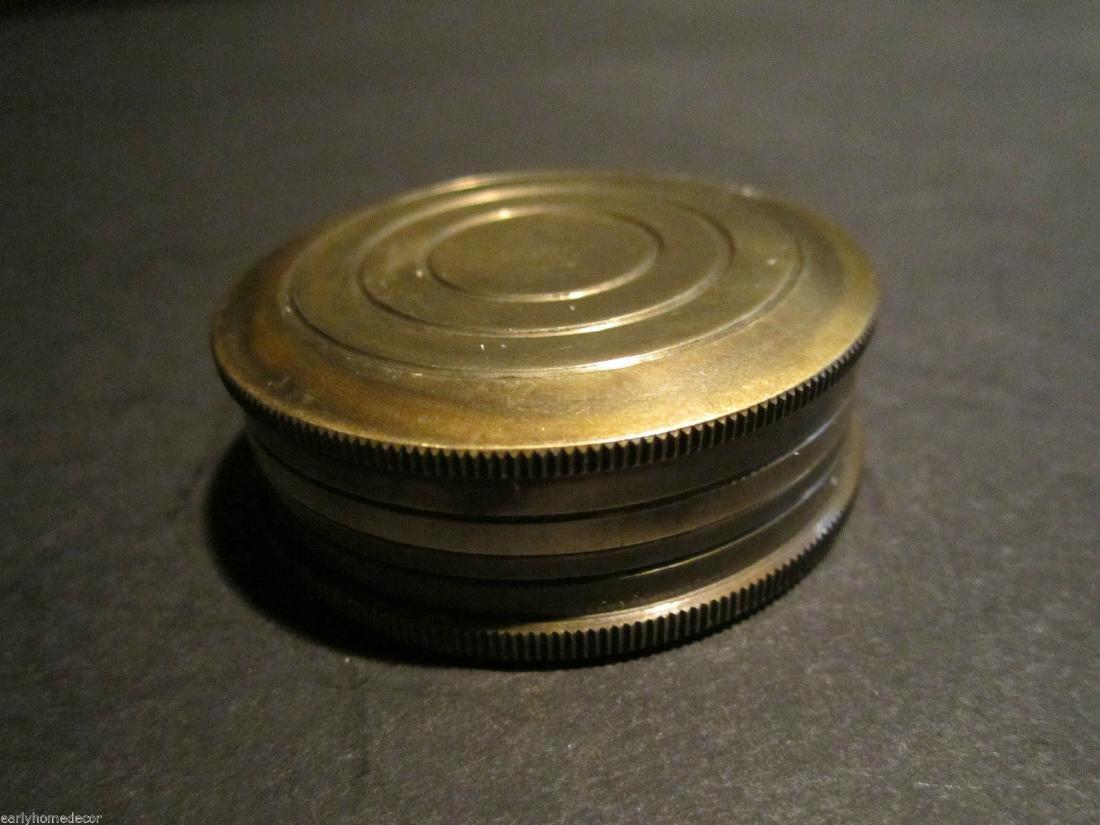 Brass Timekeeping Sundial with Top Pocket Compass Watch - 3