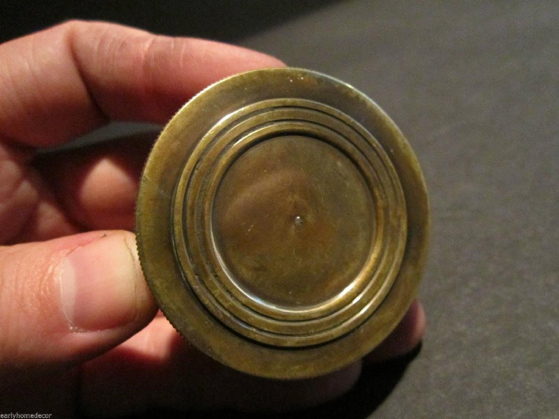 Brass Timekeeping Sundial with Top Pocket Compass Watch - 7