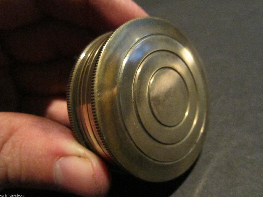 Brass Timekeeping Sundial with Top Pocket Compass Watch - 8