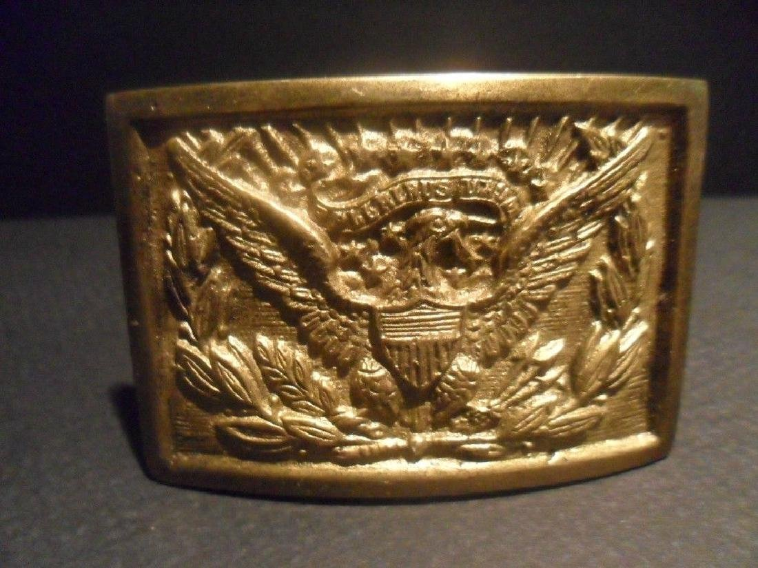 Civil War Belt Buckle Plate SOLID Brass American Eagle