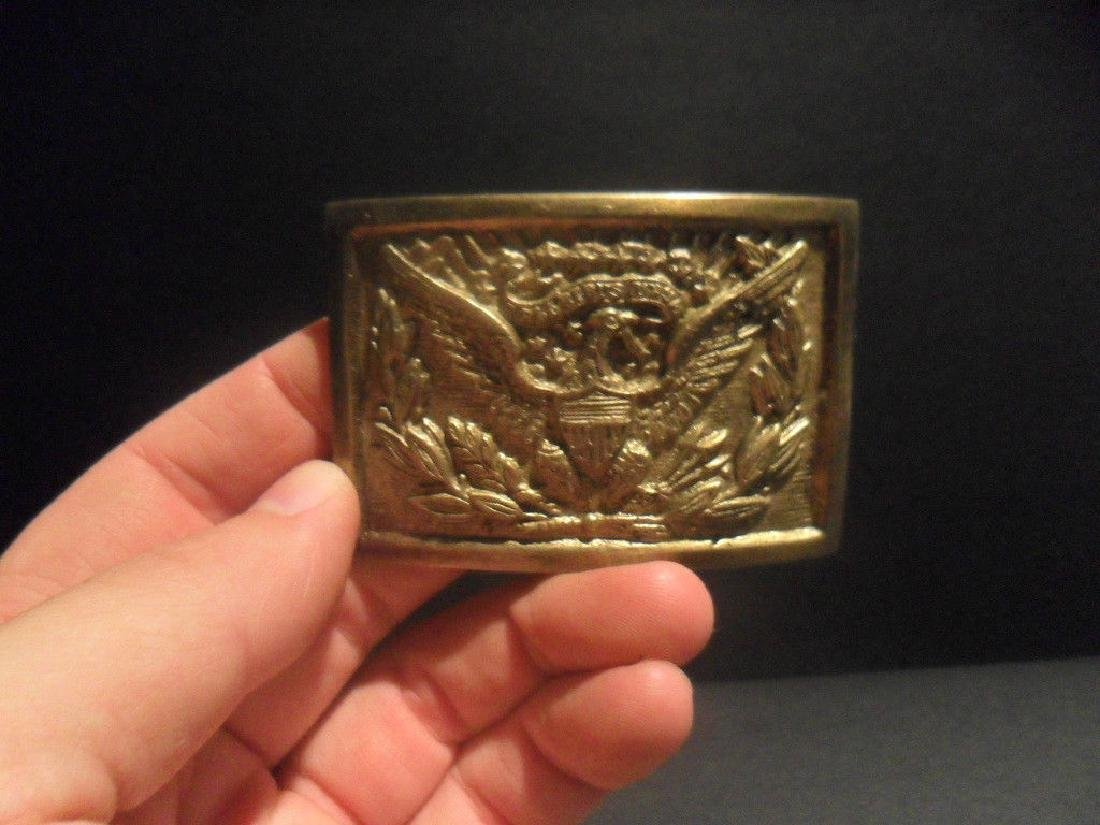 Civil War Belt Buckle Plate SOLID Brass American Eagle - 2