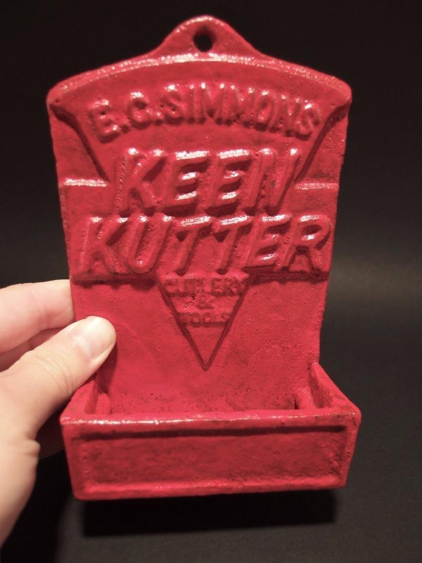 Red Cast Iron E.C. Simmons Keen Kutter Match Holder - 10