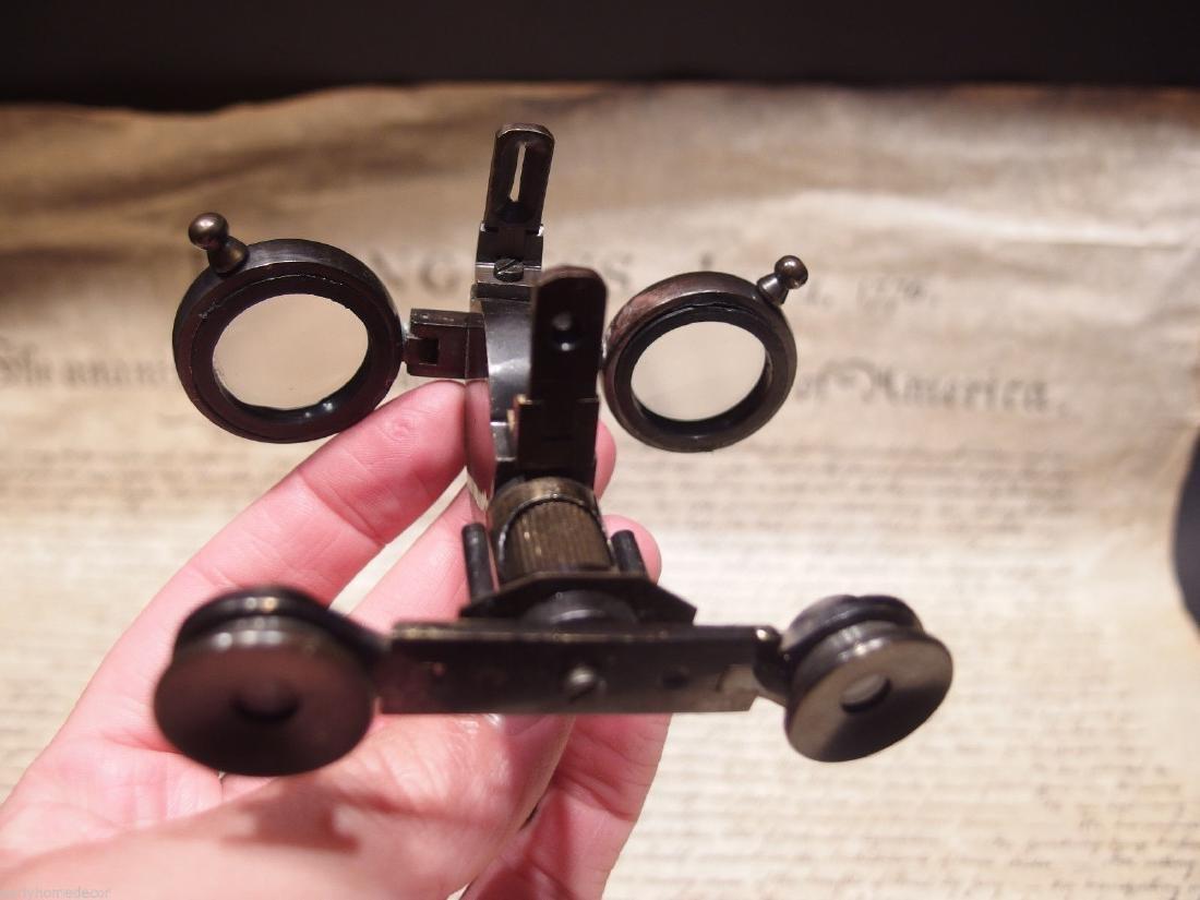 Solid Brass Folding Instrument Binoculars w Compass - 2