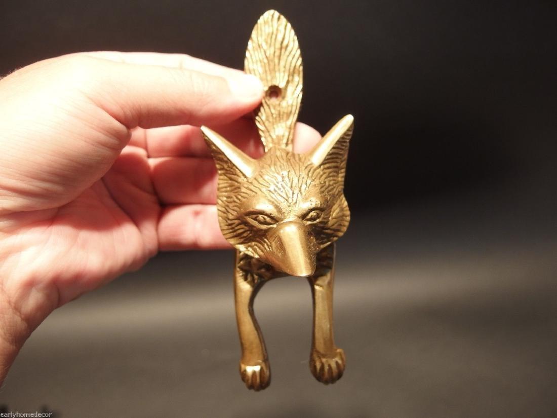 Solid Brass Fox Door Knocker - 7
