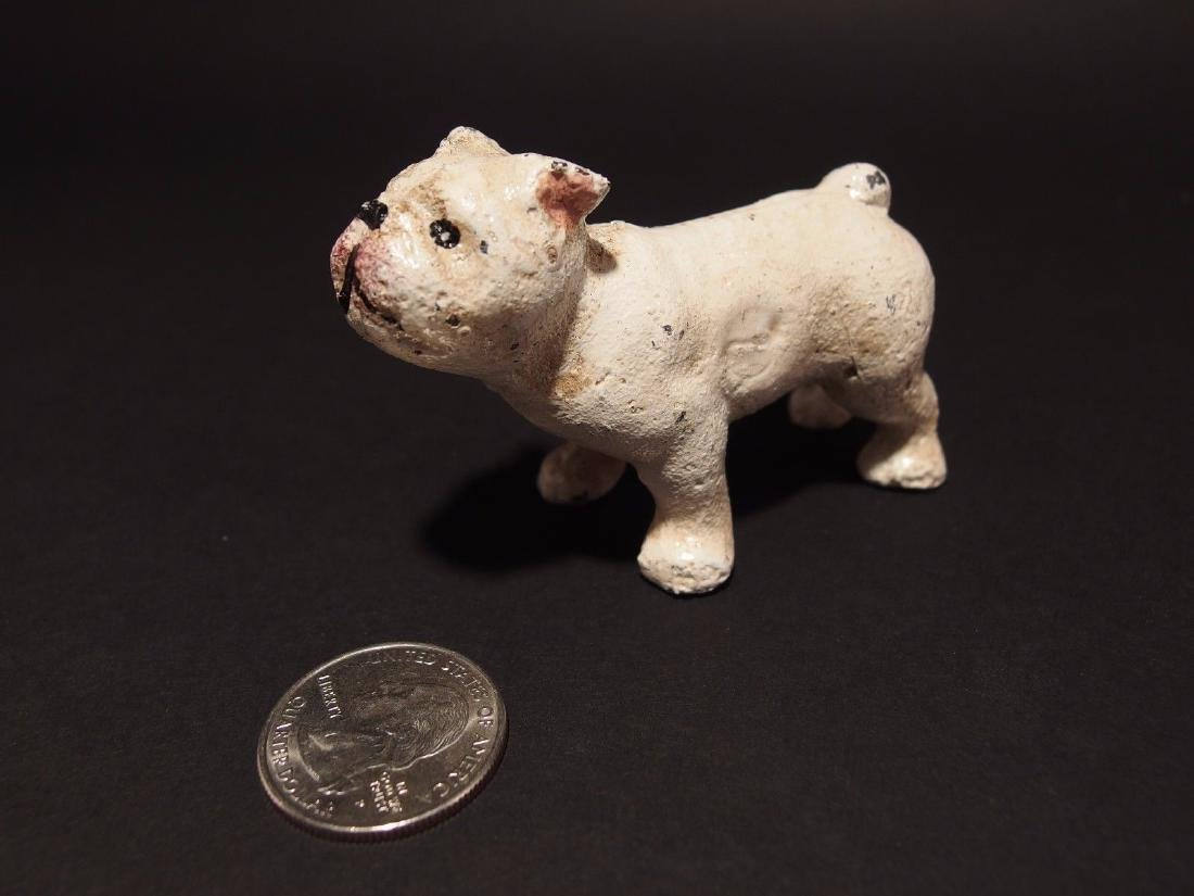 Miniature Cast Iron White Bull Dog - 10