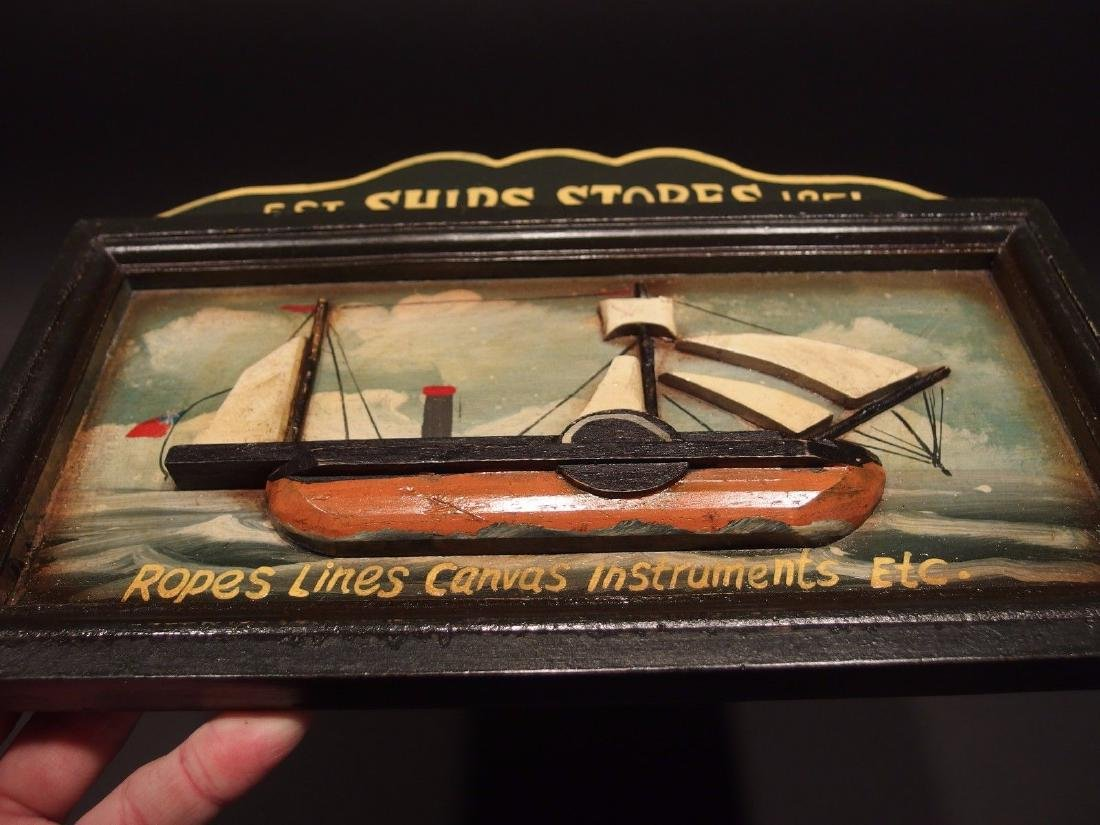 Wood English Pub Ship Stores 1851 Sailor Trade Sign - 2