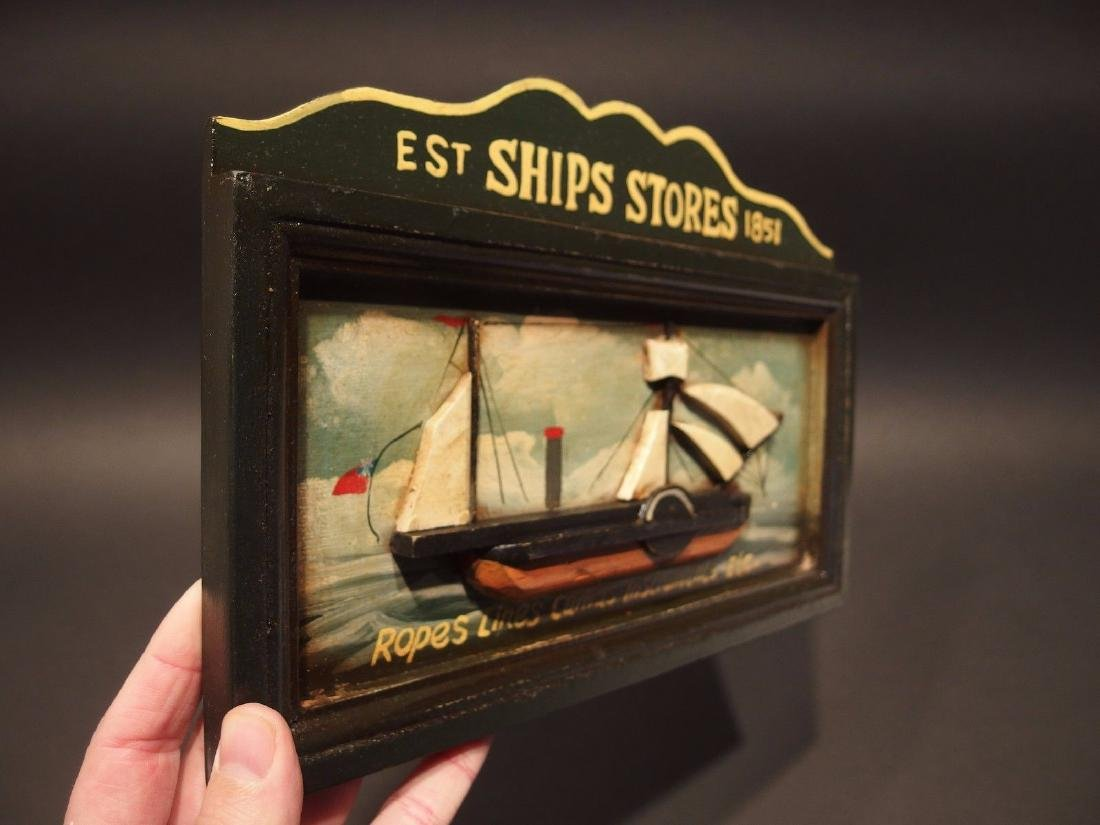 Wood English Pub Ship Stores 1851 Sailor Trade Sign - 4