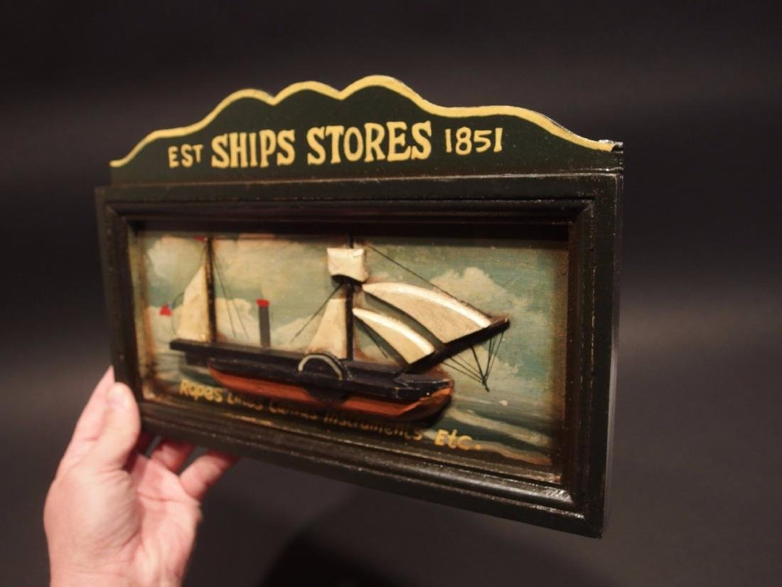 Wood English Pub Ship Stores 1851 Sailor Trade Sign - 5