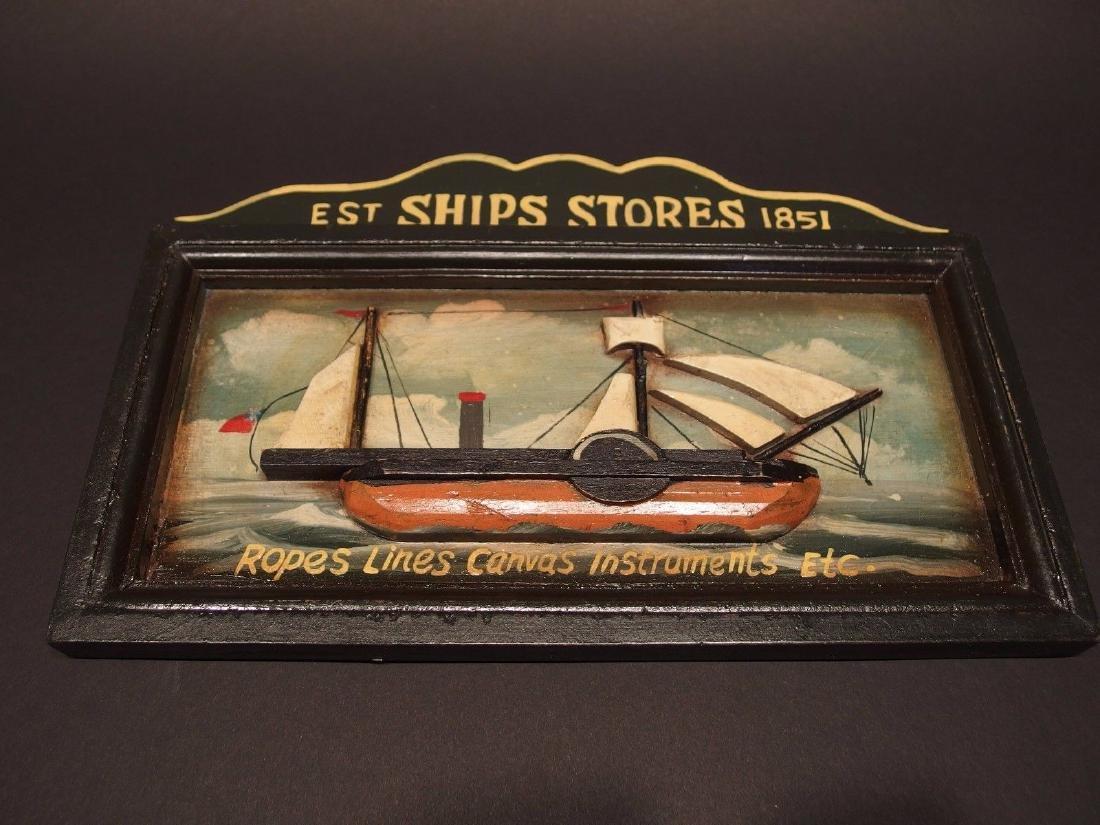 Wood English Pub Ship Stores 1851 Sailor Trade Sign - 8