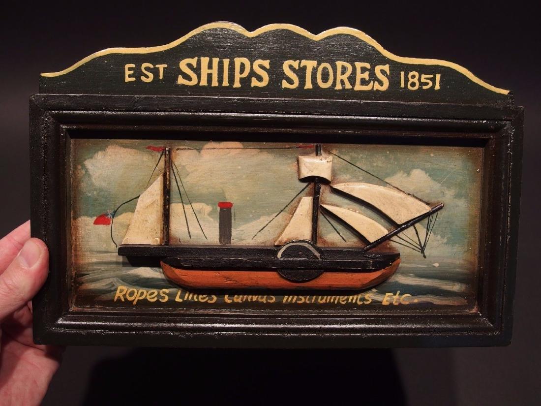 Wood English Pub Ship Stores 1851 Sailor Trade Sign - 9