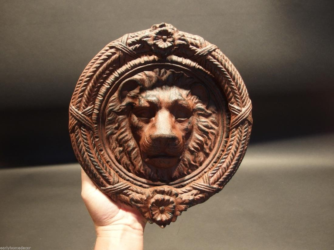 Cast Iron Lion Head Door Knocker Hardware