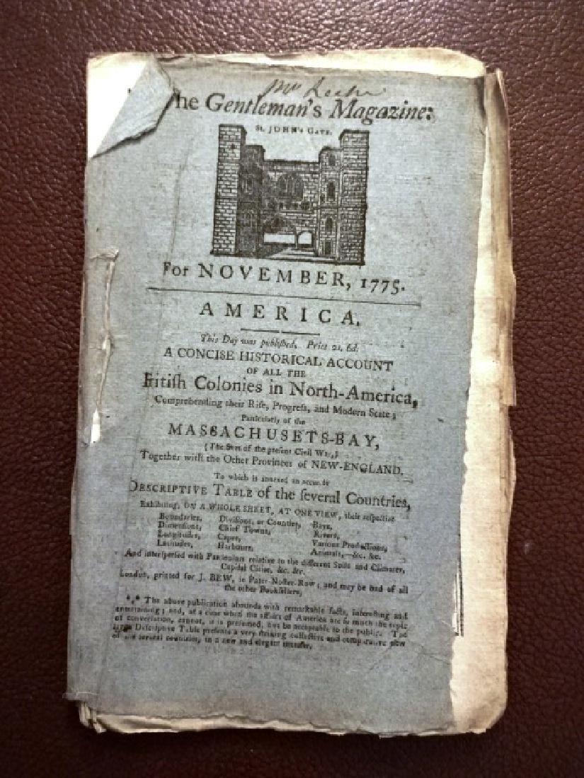 1775 Magazine American Colonies Revolution