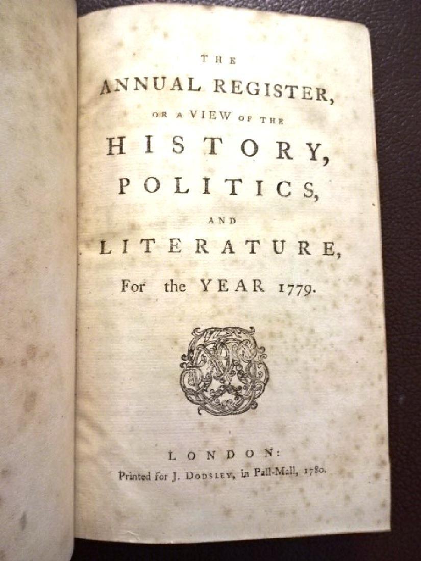 1779 Annual Register Revolutionary War Benjamin