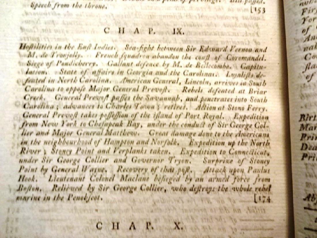 1779 Annual Register Revolutionary War Benjamin - 4