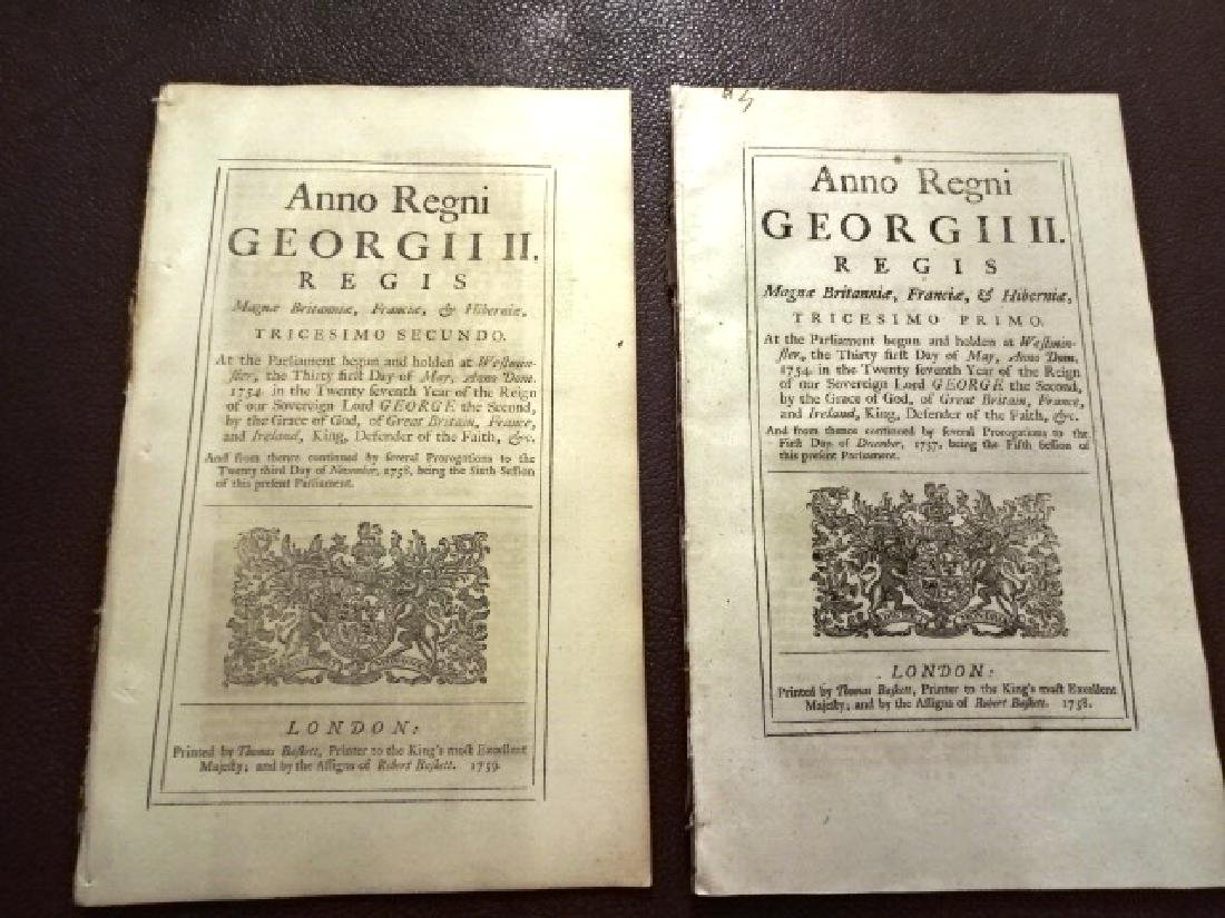 1758 Two Military Acts of Parliament George II