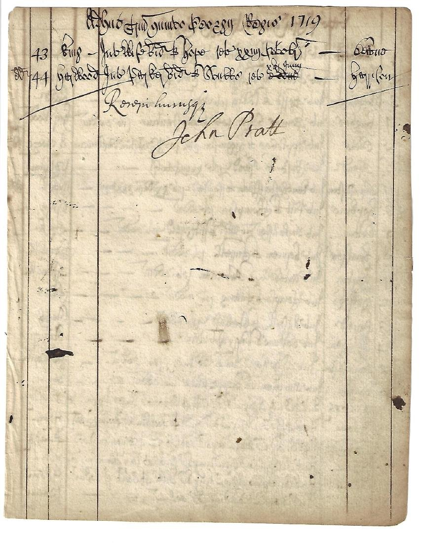1719 Beautifully Penned Chancery Latin Register Signed - 2