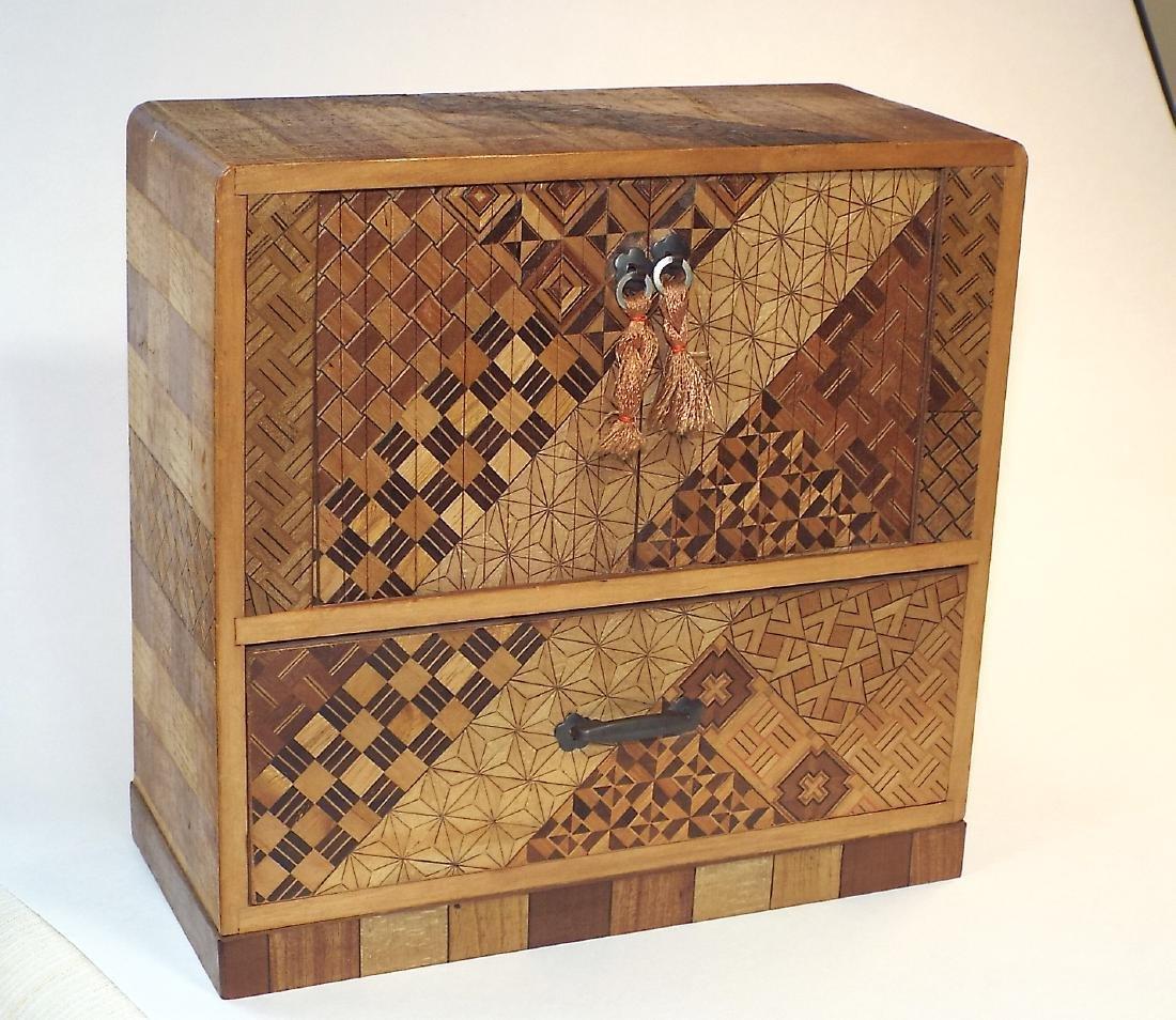 Japanese Yosegi Marquetry Jewelry Box