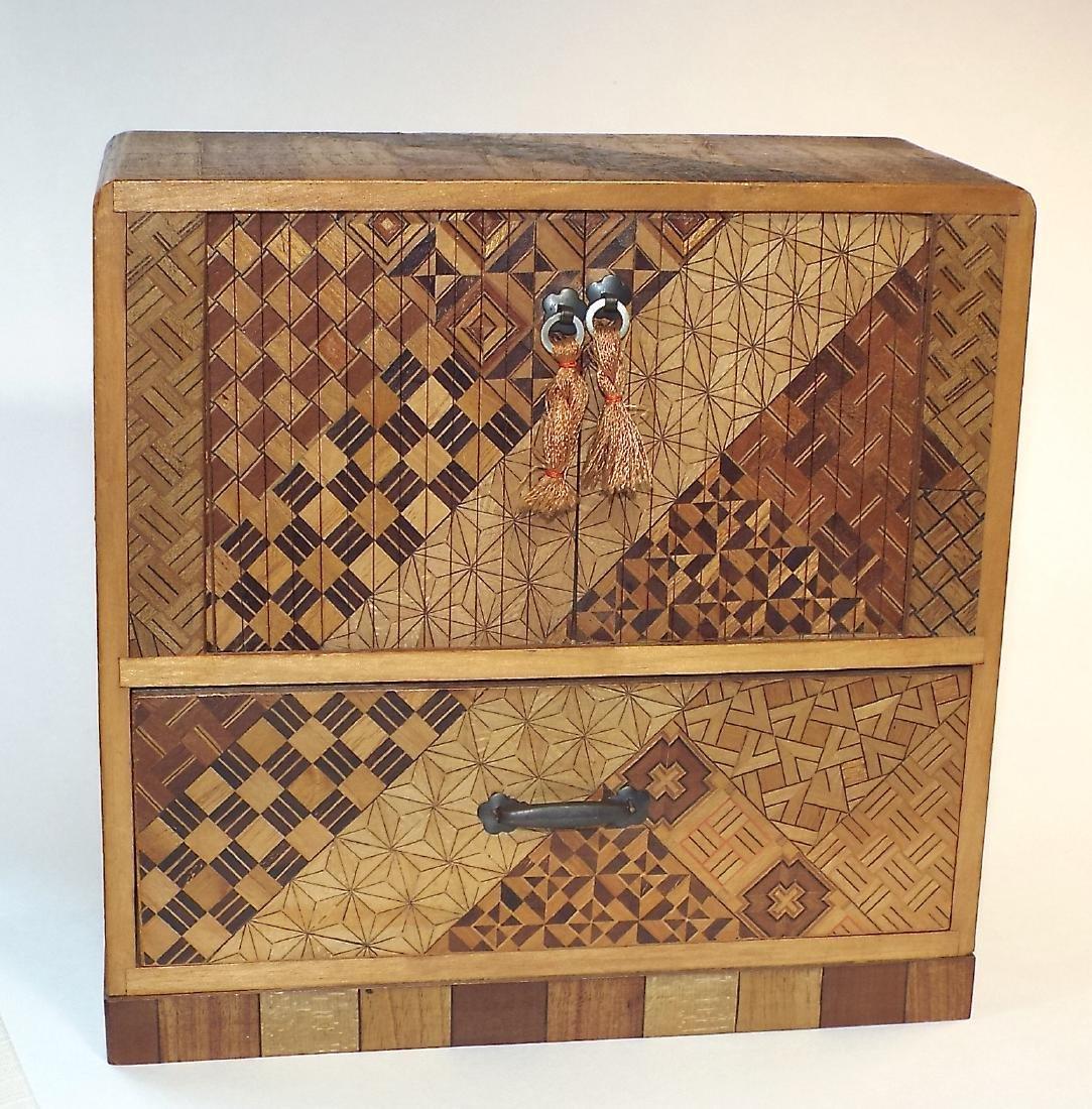 Japanese Yosegi Marquetry Jewelry Box - 2