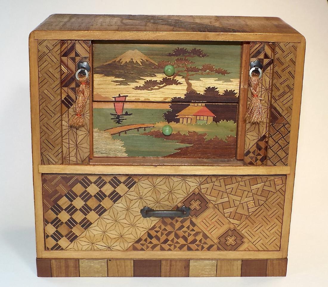 Japanese Yosegi Marquetry Jewelry Box - 3