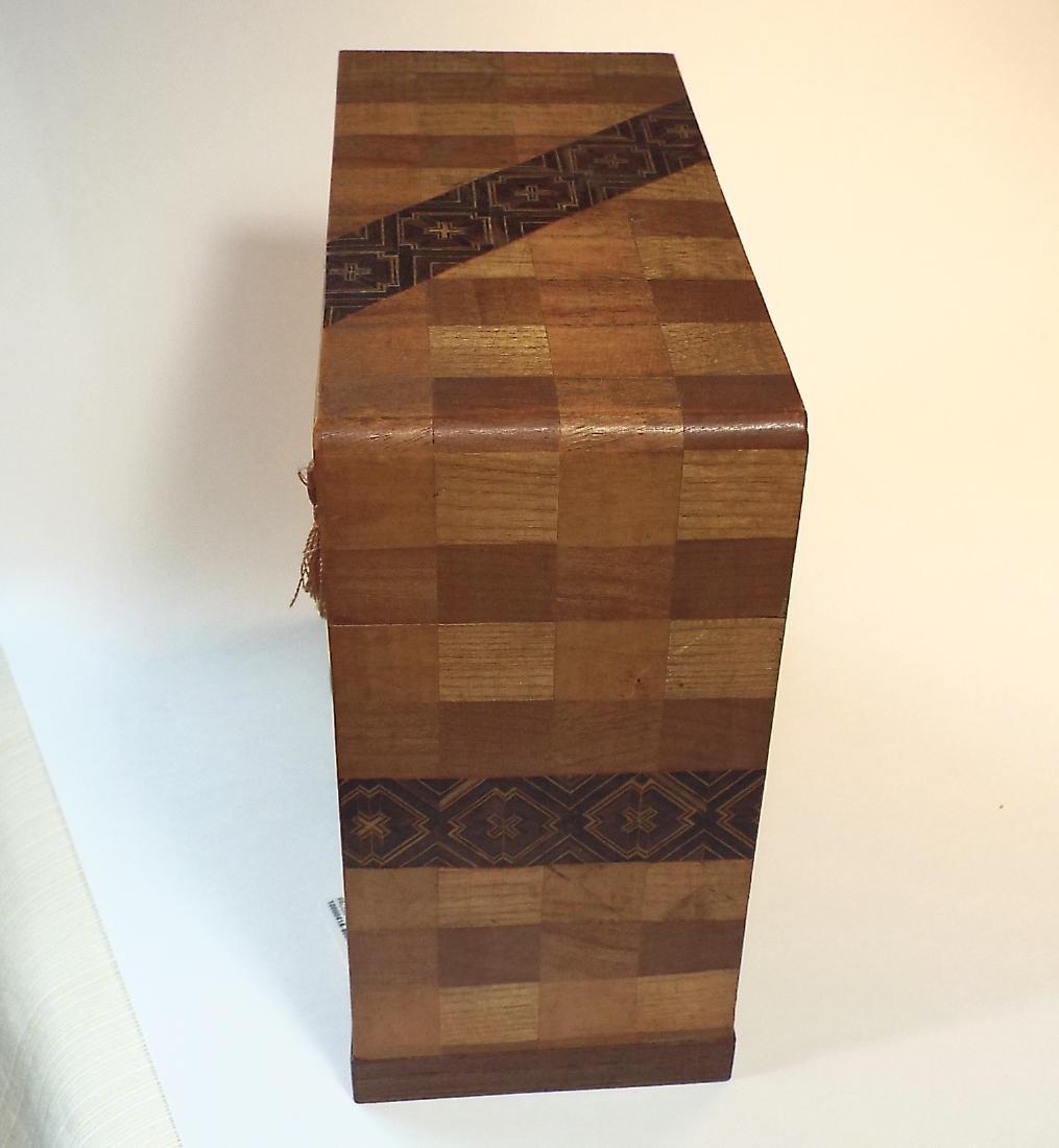 Japanese Yosegi Marquetry Jewelry Box - 4