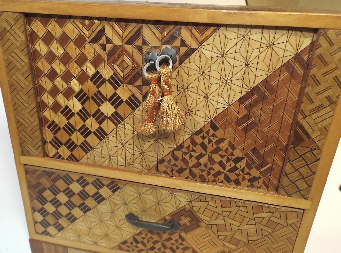 Japanese Yosegi Marquetry Jewelry Box - 8