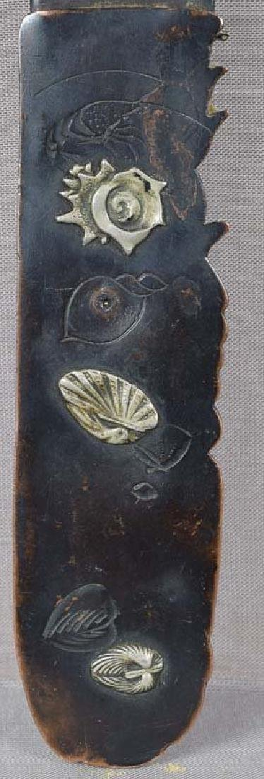 19c Japanese bronze page turner LOBSTER & shells - 3