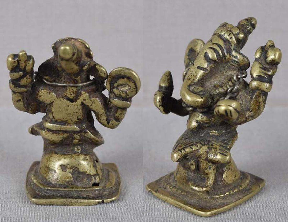 18c Indian bronze GANESHA - 3