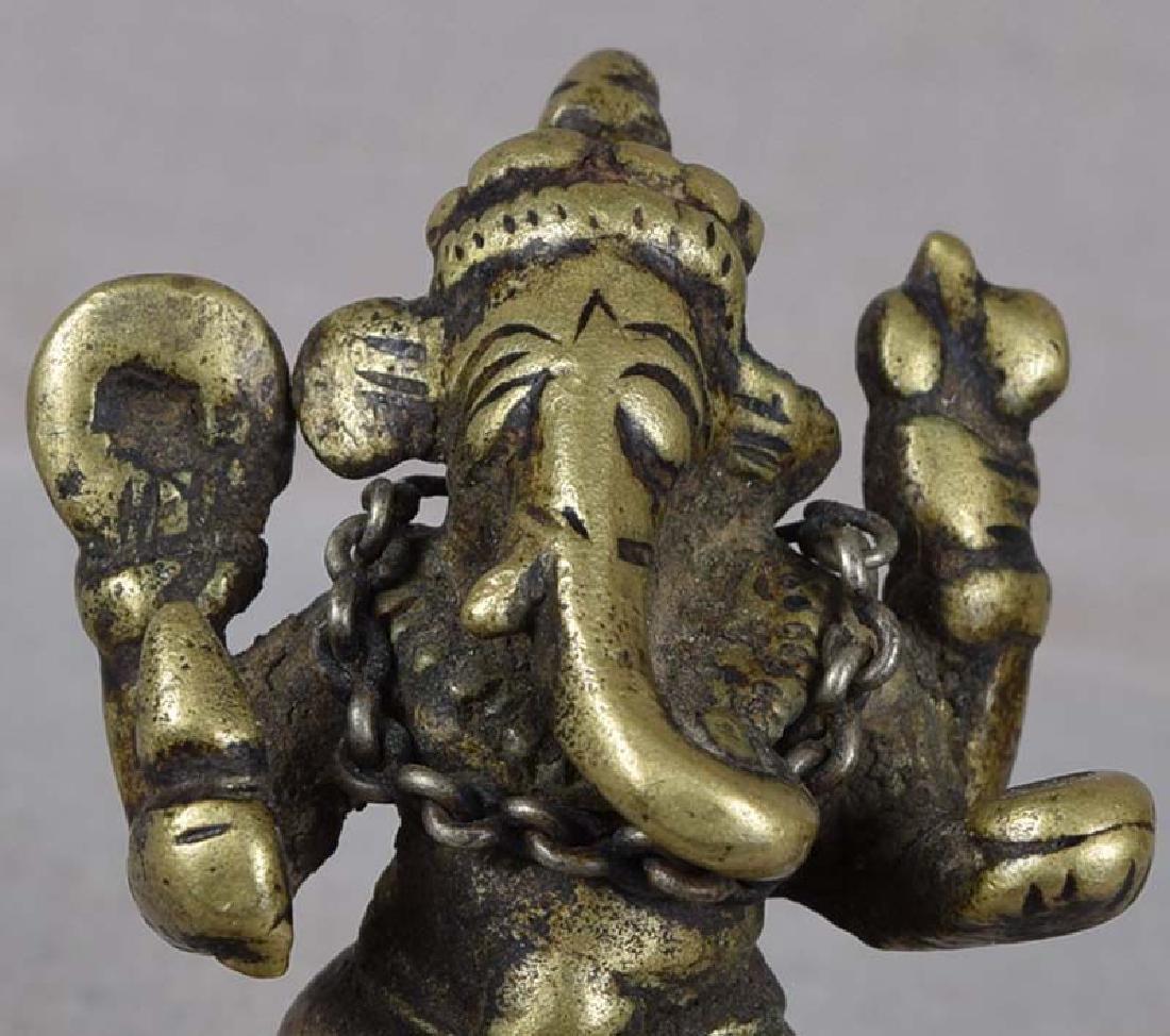 18c Indian bronze GANESHA - 5