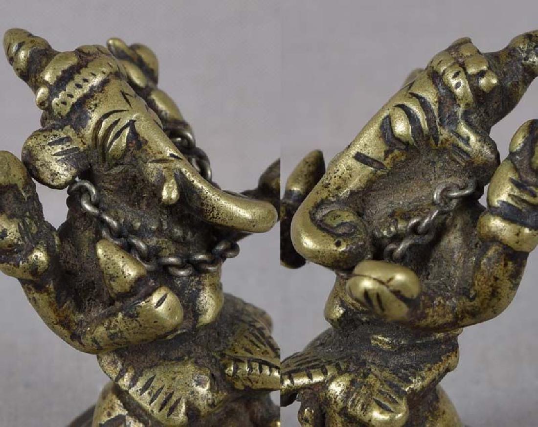 18c Indian bronze GANESHA - 6