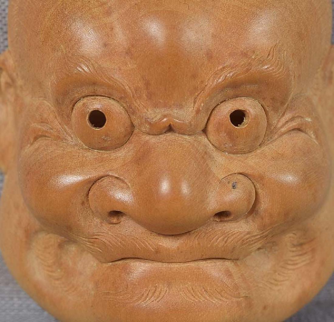 Netsuke mask KO-BESHIMI by FUJITA HOZAN - 2
