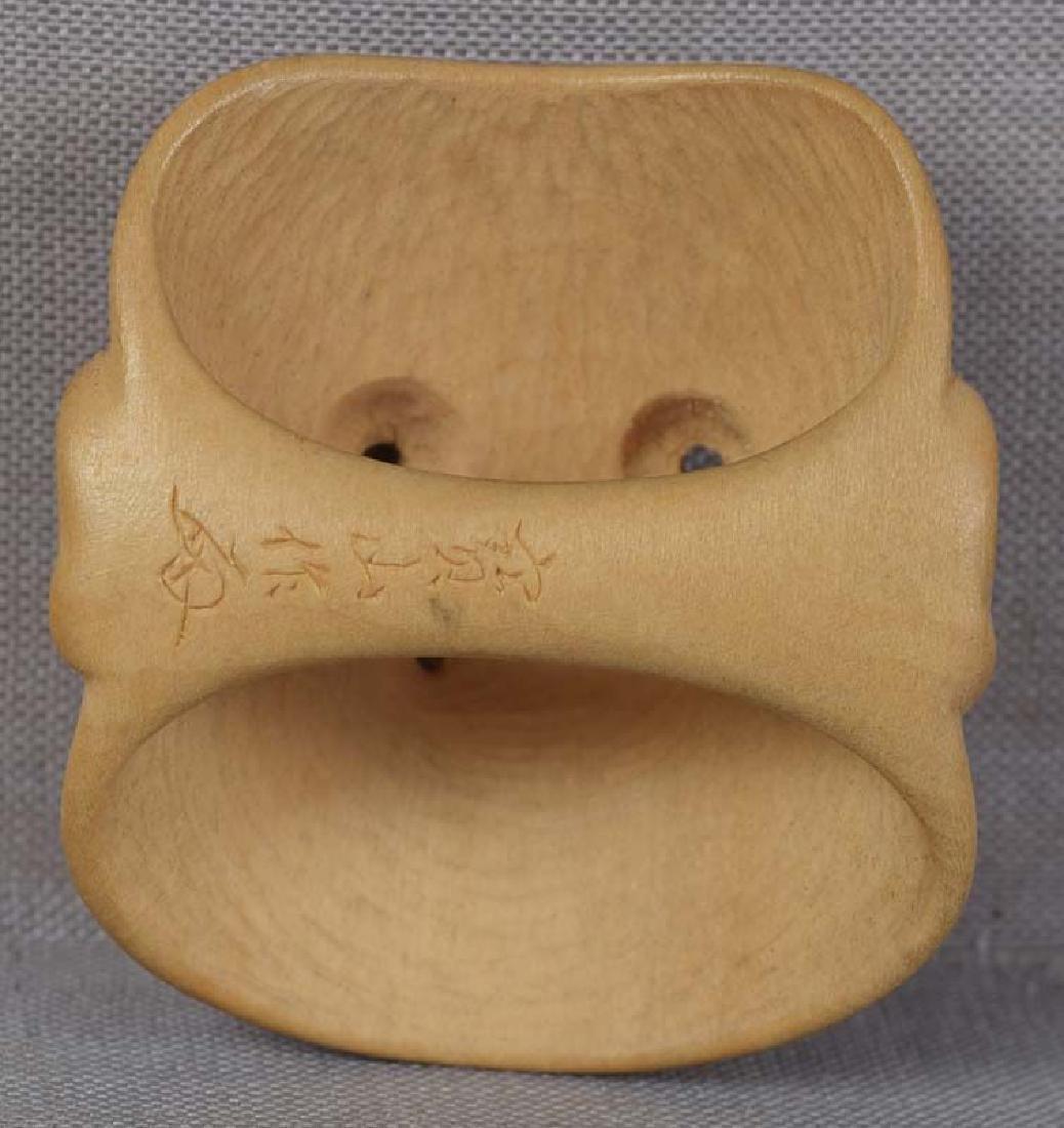 Netsuke mask KO-BESHIMI by FUJITA HOZAN - 4