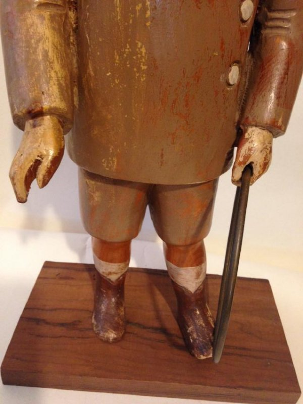 Early 20th Century Solid Wood Figure of a Boy - 3