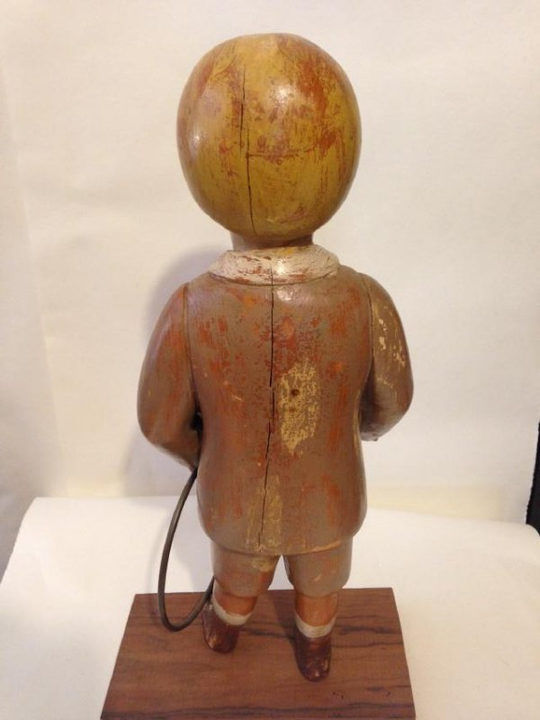 Early 20th Century Solid Wood Figure of a Boy - 5