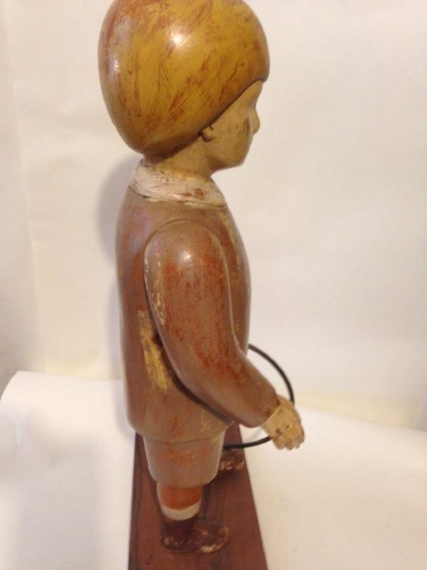 Early 20th Century Solid Wood Figure of a Boy - 6
