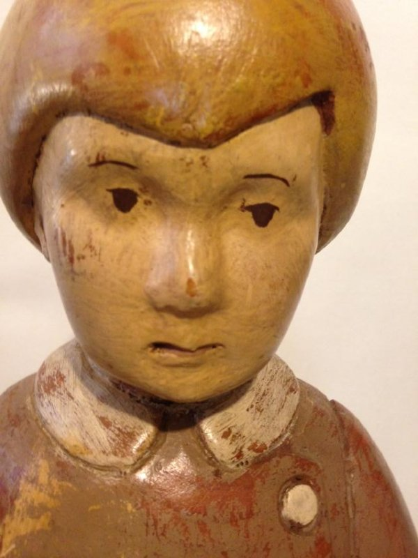 Early 20th Century Solid Wood Figure of a Boy - 8