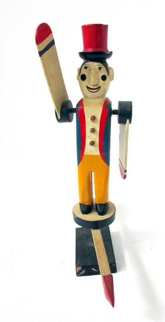 Vintage Miniature Circus Ringmaster Whirligig - 2