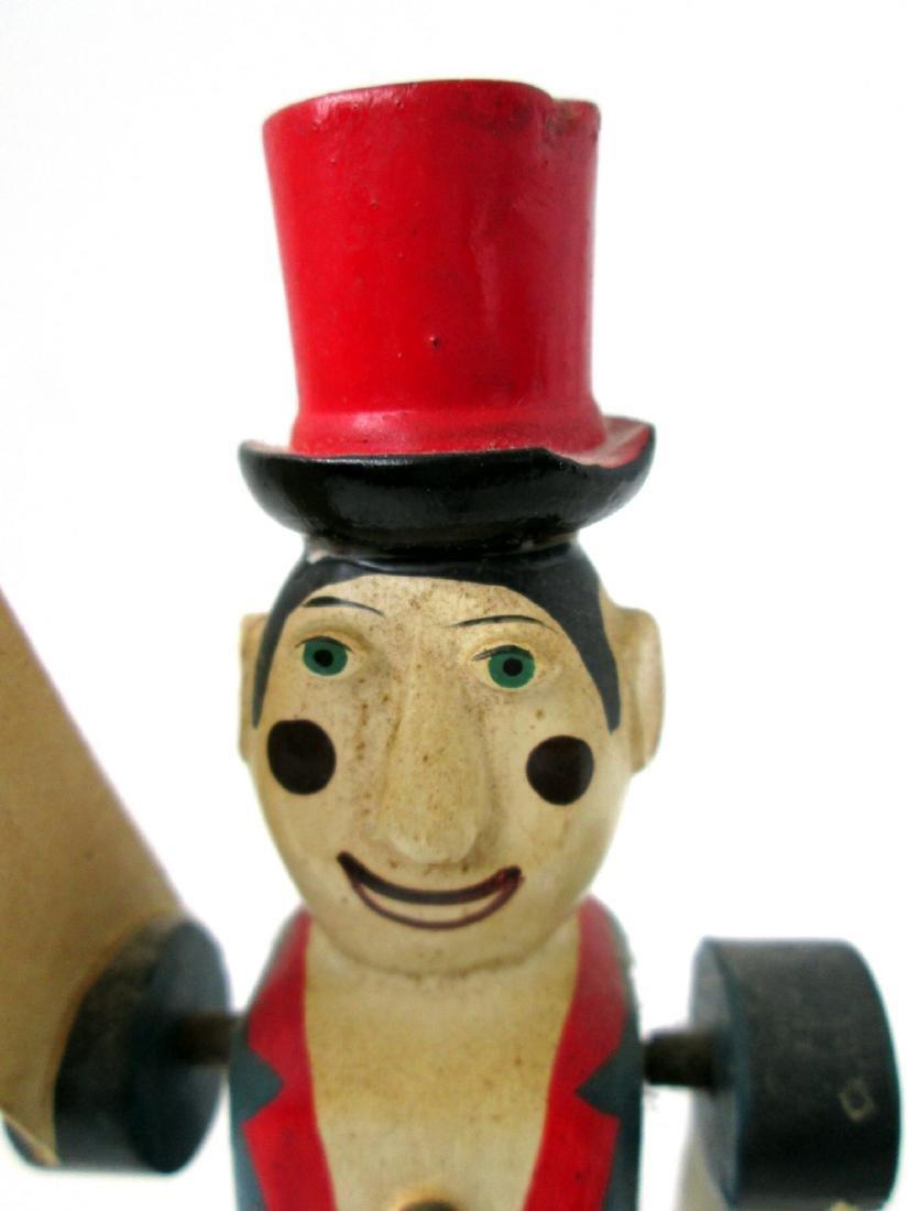 Vintage Miniature Circus Ringmaster Whirligig - 3