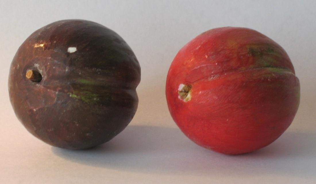Two Miniature Stone Fruit