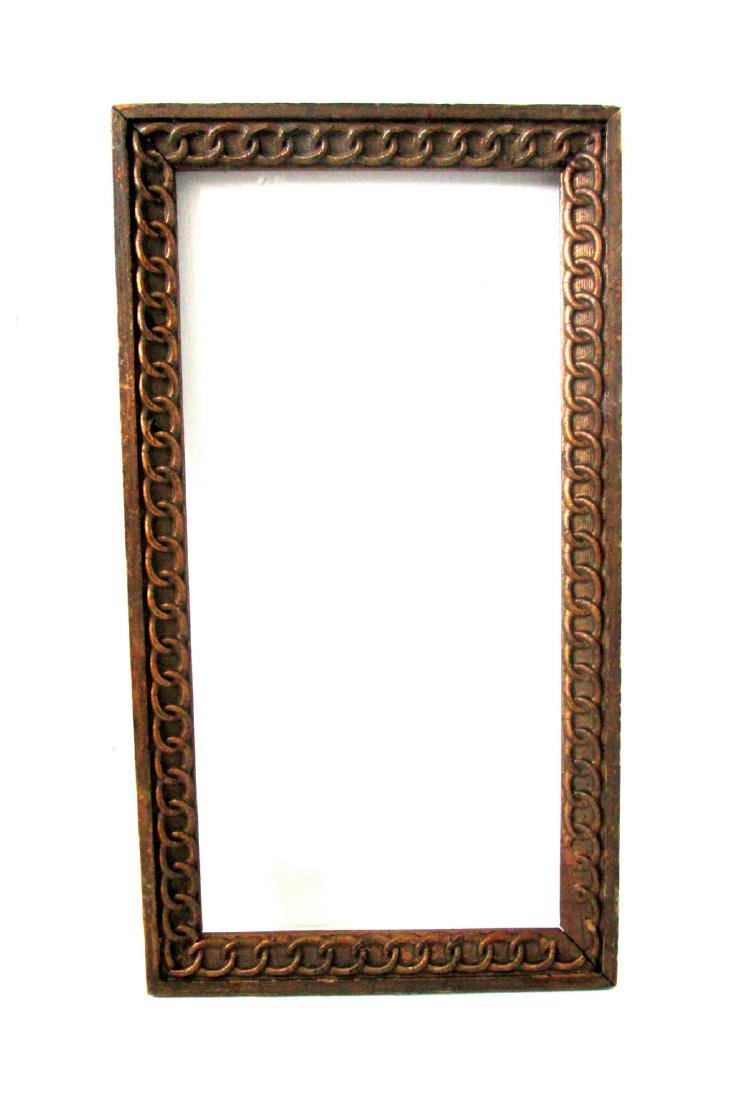 Early Chain Carved Picture Frame