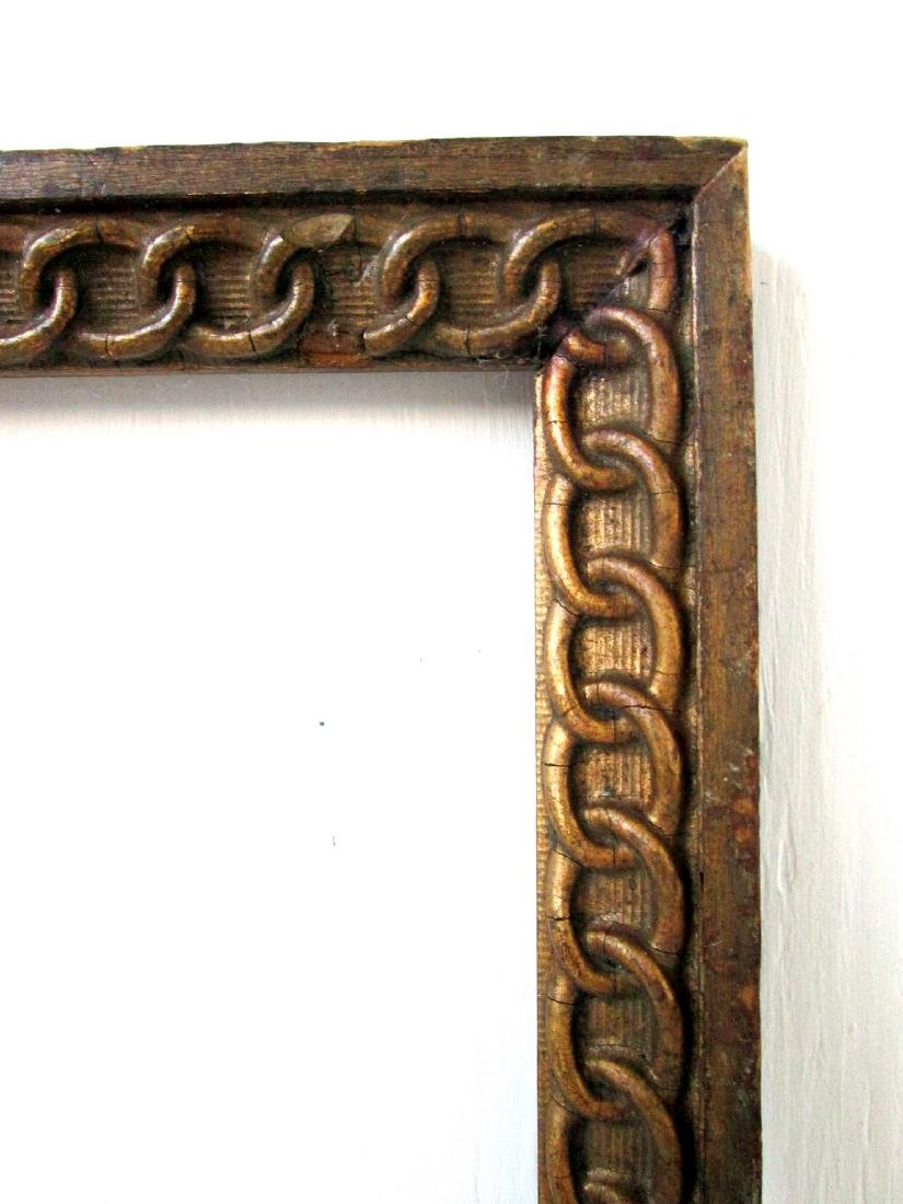 Early Chain Carved Picture Frame - 2