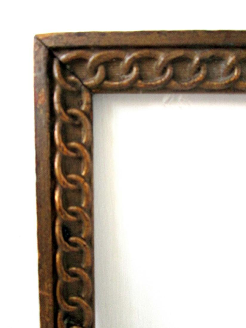 Early Chain Carved Picture Frame - 3