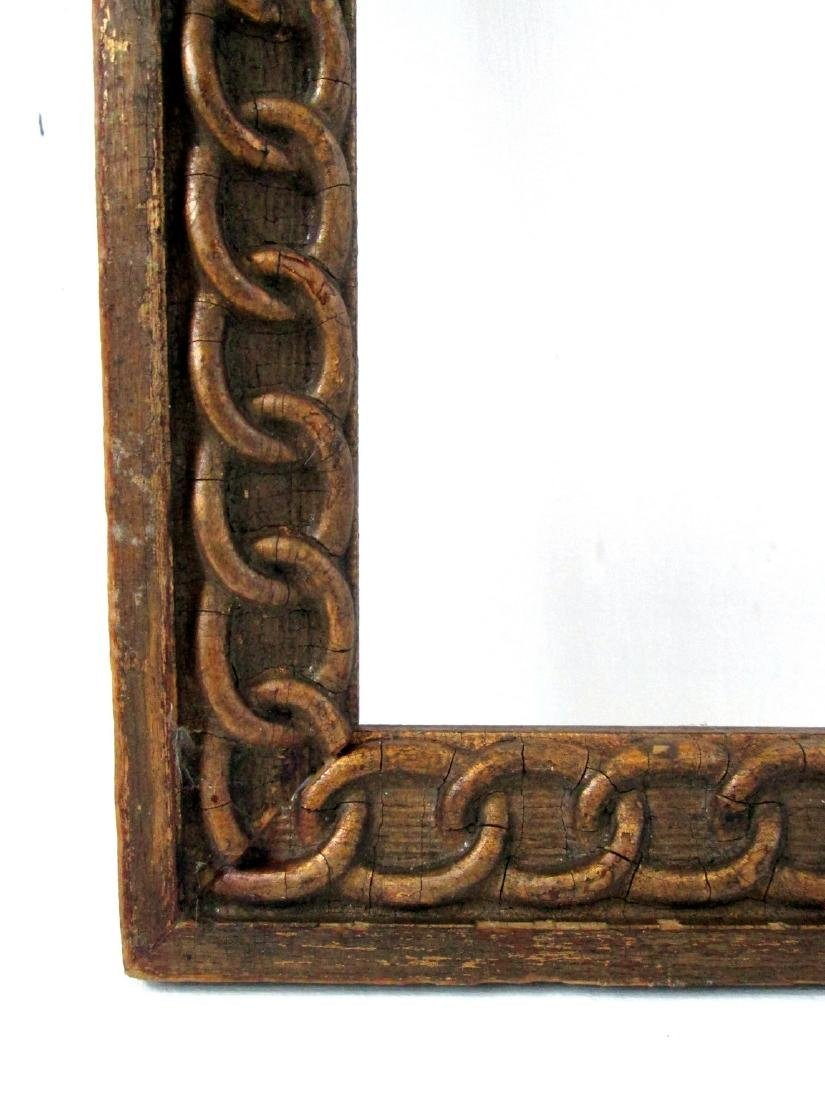 Early Chain Carved Picture Frame - 4