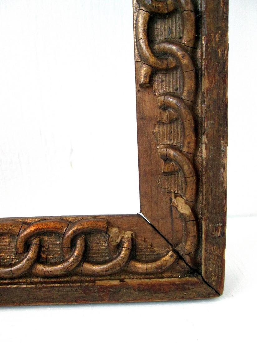 Early Chain Carved Picture Frame - 5