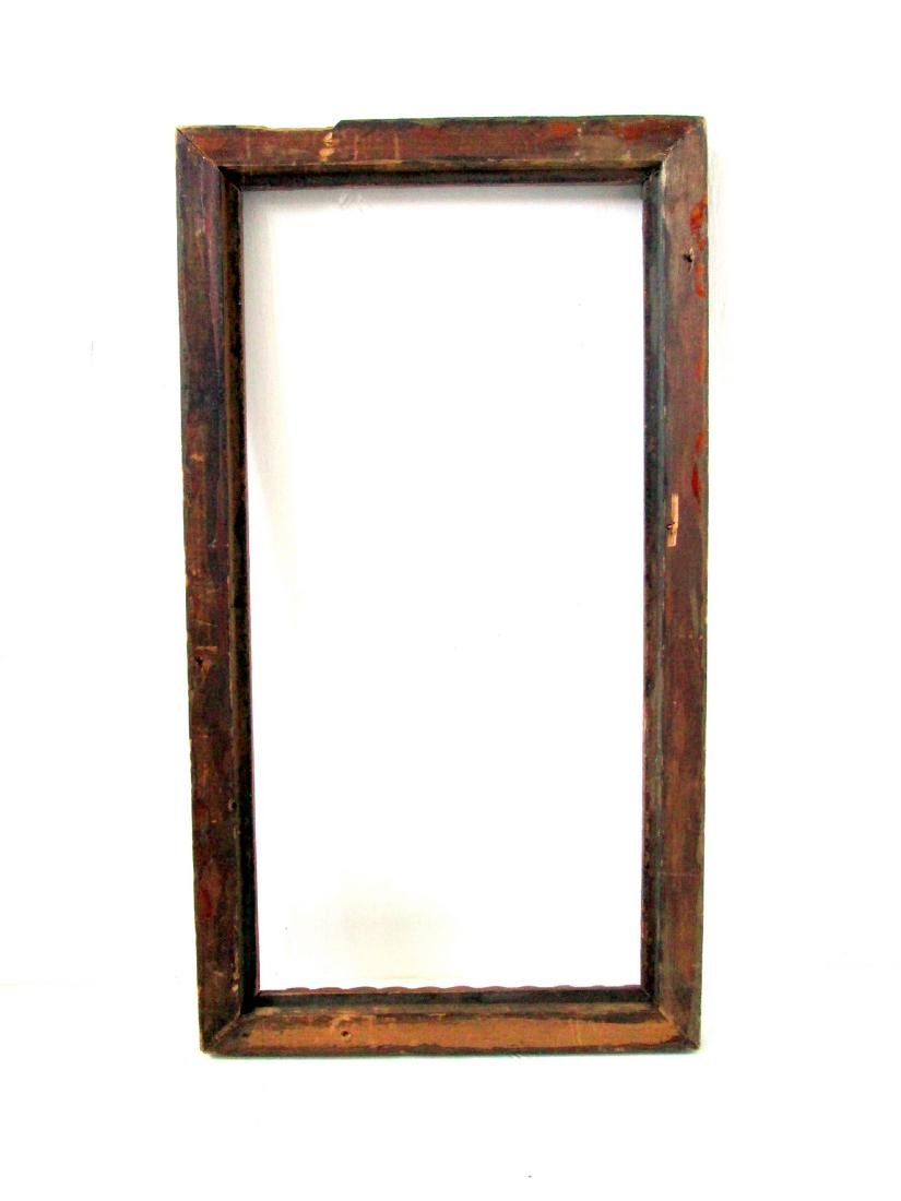 Early Chain Carved Picture Frame - 6