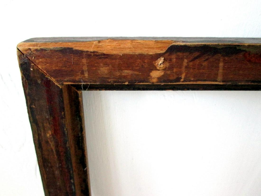 Early Chain Carved Picture Frame - 7