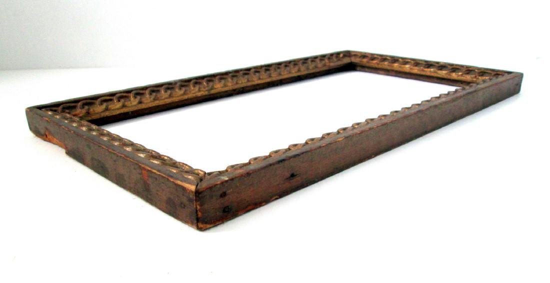 Early Chain Carved Picture Frame - 8