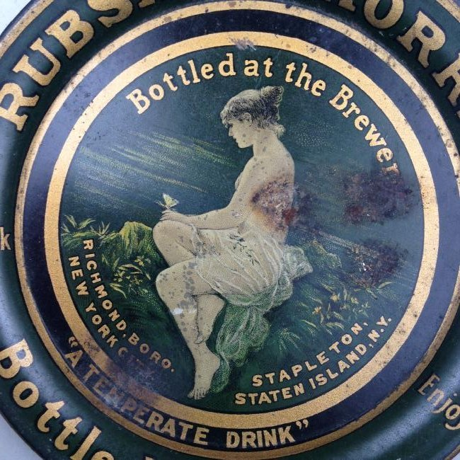 C1900 Rubsam and Horrman Beer Tip Tray - 2