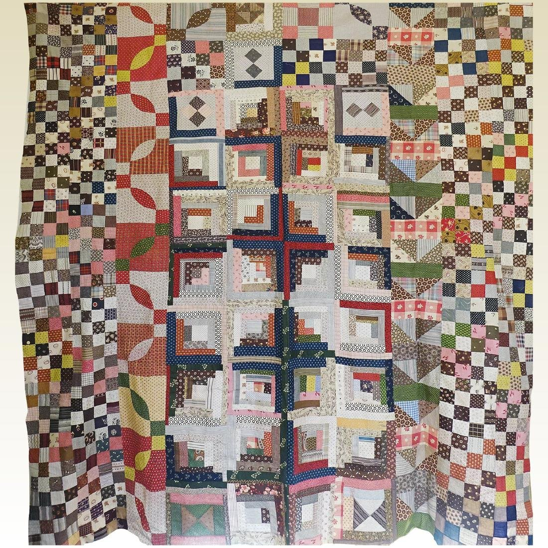 1860 Quilt Top Sampler Charming Confusion