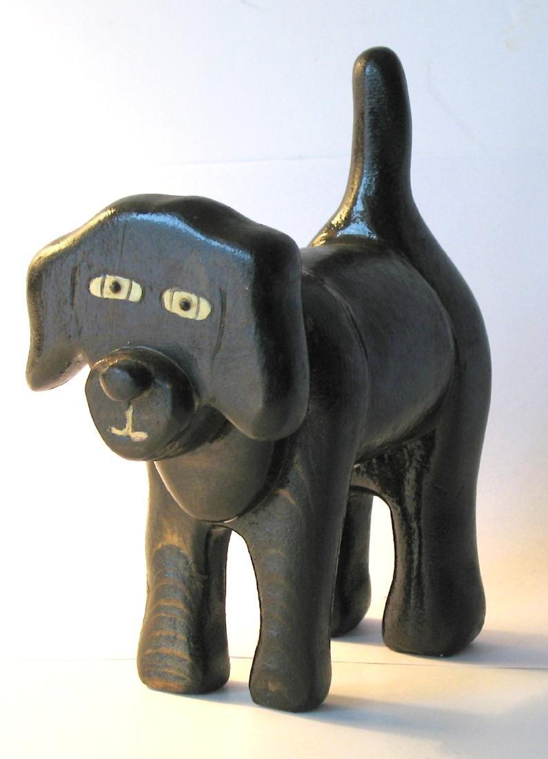 Folk Art Wooden Dog.