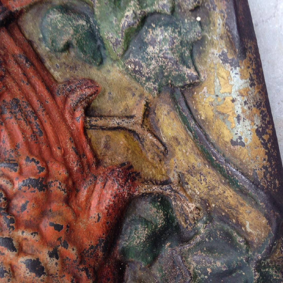 C1900 Cast Iron Cockatoo Doorstop in Original Paint - 5
